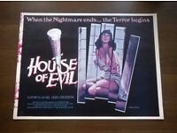 house of evil ' original ' british quad ' cinema poster