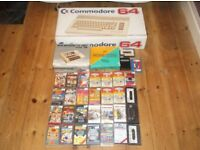 COMMODORE CBM 64 WITH DATASETTE / GAMES / MOUSE /JOYSTICKS / LIGHTGUNS AND MANUALS