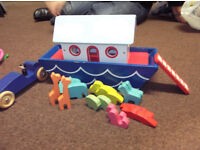 NOAHS ARK WOODEN BOAT AND WOODEN CAR FUNDS TO CANCER SUPPORT