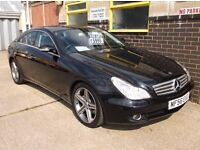 Mercedes CLS 320 CDI Automatic 2006/56 - Black- Black Leather -Sat Nav -Debit/Credit Cards Accepted