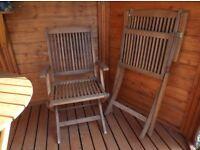 Garden chairs (2) wooden