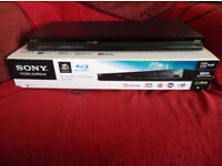 Sony S480 3D Bluray player, boxed, remote and user manual. Excellent condition. Free UK postage!!