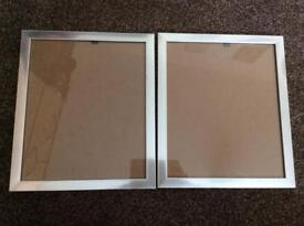 Pair of silver 10x12 frames