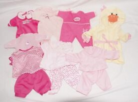 Baby Doll Bundle - 9 Dolls, 18 Outfits, 4 Blankets & Doll Carrier