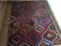 Multi coloured rug