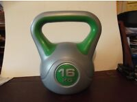 16kg Vinyl Kettlebell weight in very good clean condition