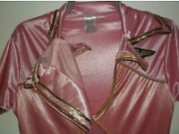 LADIES PINK FANCY DRESS OUTFIT SIZE 8/10