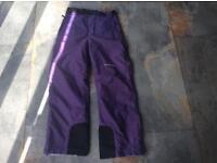 Whiterock purple salopettes