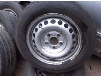 """VW TRANSPORTER T4,T5,T6 15"""",16""""STEEL WHEELS AND TYRES PRICES FROM £20 PER WHEEL"""