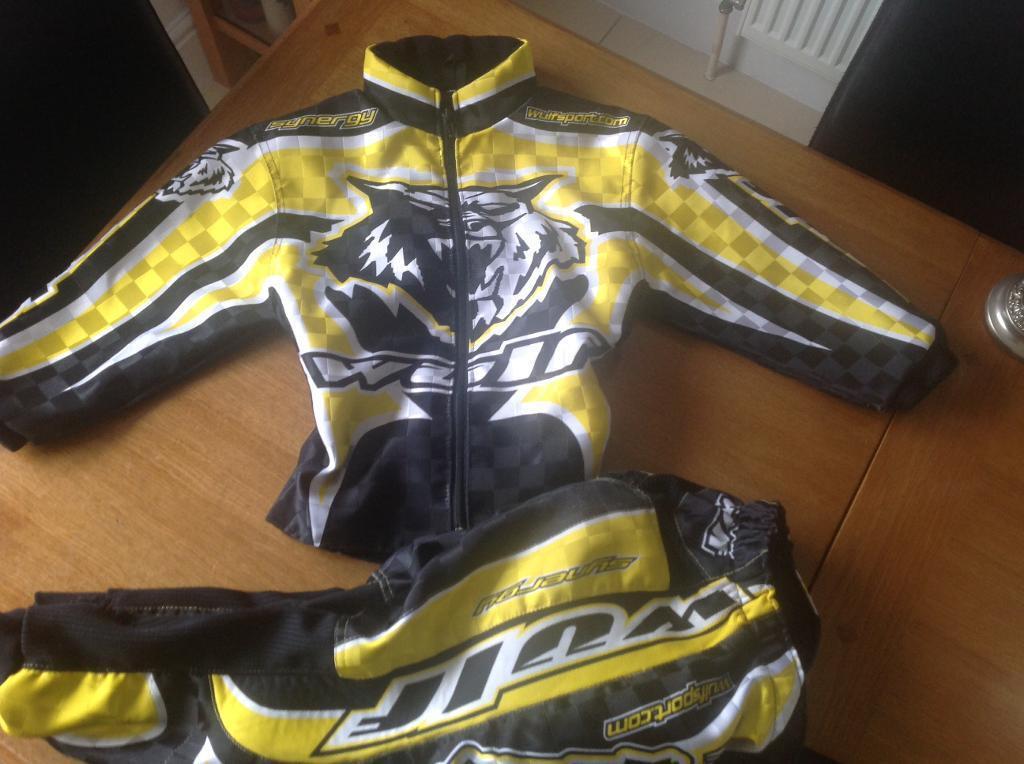 Wulf sport motocross jacket & trousers