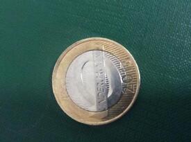Underground station £2 coin