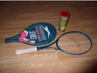 Slazenger Panther Tennis Racket and 3 Balls