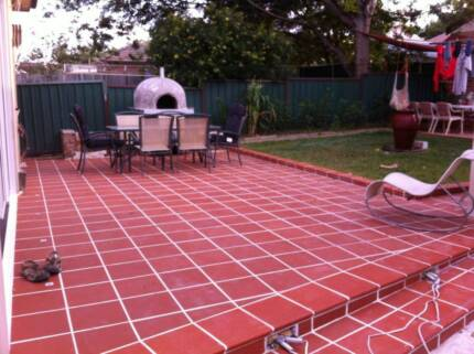 Terracotta Floor Tiles 300x300 With Matching Bull Noses Burwood Burwood Area Preview