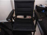 Black sturdy chair