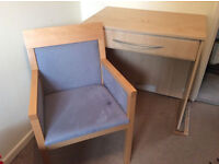Wooden Furniture Dressing Table And Chair