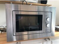Cookology Built-in Microwave, good as new, stainless steel integrated