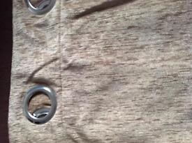 Extra long gold/light brown lined curtains