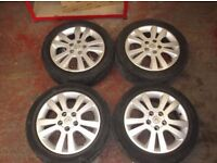 """VAUXHALL ASTRA ALLOY WHEELS INC TYRES 16"""" PX WELCOME ASK"""