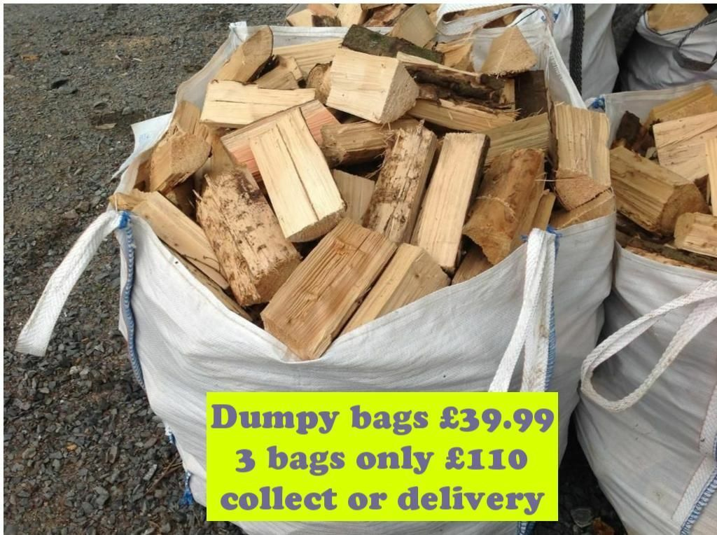FIREWOOD LOGS DUMPY BAGS MOISTURE CHECKED KEEN PRICES DELIVERY OR COLLECT SOFTWOODHARDWOODin Frizington, CumbriaGumtree - Firewood logs for woodburner stove softwood & hardwood 1 dumpy bag £39.99, 3bags £110, 4 bags £140. Hardwood logs £55 per bag discount for quantity purchases. Logs moisture checked before sale and are usually below 20 and are ready for your stove...