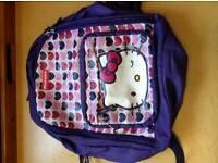Hello kitty purple hearts rucksack