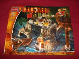 Mega Bloks Pyrates Smuggler's Fort 3676 and Build Instruction Booklet ~ Very Good Condition