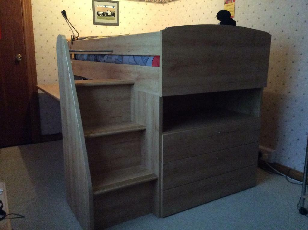 Sterling Furniture Mid Cabin Bed With Pull Out Desk 100