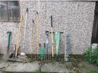 selection of garden tools £20 ono