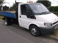 ford transit 115hp tipper alloy, 2005 ,12 months mot, new clutch .flywheel.117000 miles