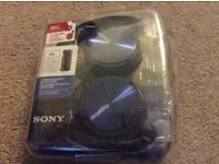 Sony headphones MDR-ZX310AP foldable headphones with mic - brand new