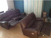 Reclining Leather sofa 3+2