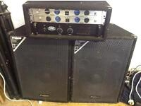 Disco/PA Gear for sale - Amp, VHF Mics and Speakers + leads