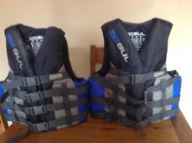 Two Gul 50N Water Sports Buoyancy Aids.