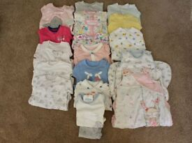 Bundle of Baby Sleepsuits, Pyjamas & Sleeping Bags (Some Brand New)