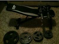 Olympic bodybuilding weightlifting set