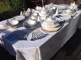 Massive collection of Viners Eternal Beau - tea and dinner service