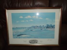 FRAMED SIGNED PRINT ROYAL TROON BY BILL WAUGH