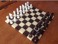 Marble Chess & Draughts Board