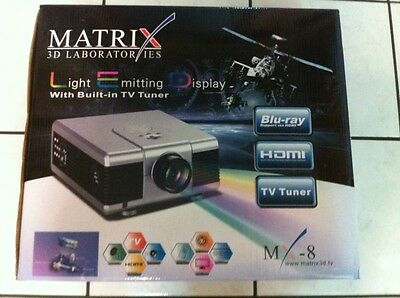 HOME THEATER VIDEO Projector LED HDMI HD TV WII PS3 1080p 800x480