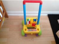 Baby /Toddler Walking /Push along brick trolley