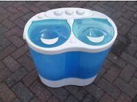 PORTA WASH TWIN TUB, WASHING MACHINE, FOR CARAVAN, CAMPING, BEDSIT