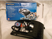 Double Cylinder Foot Pump Brand New