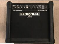 Behringer Ultratone KT108 15w Keyboard Amplifier 15W - barely used - excellent condition, as new