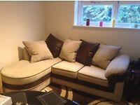 Left hand L shape sofa