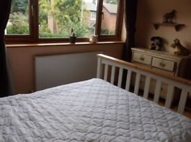 Room to rent with own lounge in homely shavington house (1 dog & 2 cats)