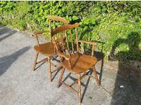 2 antique kitcken chairs