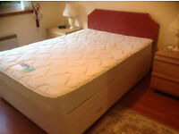 Double divan bed with Silent Night Miracoil matress