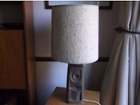 mid century vintage west german abstract stoneware table lamp light with period shade