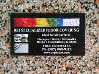 SPECIALIZED CONCRETE RESURFACING ( polymer and epoxy finish )