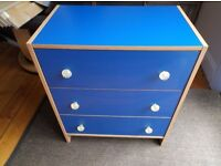 Ikea chest of drawers Blue