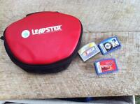 Leapster case and 3 games